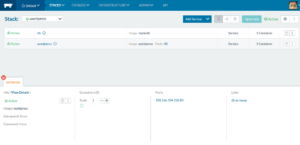 Rancher WordPress stack